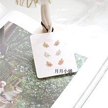 ☆月月小舖☆○現貨○韓國代購正韓國製造玫瑰金金色銀色葉子氣質耳環一對
