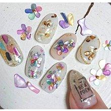 福福百貨~日系美甲貝殼片飾品天然不規則碎片指甲彩繪超薄裝飾粉DIY指甲貼亮片~12色套裝