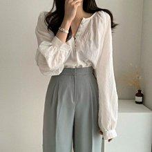 襯衫上衣 DANDT 法式優雅前釦寬鬆顯瘦上衣(20 SEP)同風格請在賣場搜尋 SHA 或 歐美服飾