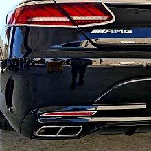 【JR 佳睿精品】15-UP Benz S63 S56 S400 C217 Coupe 改裝 鍍鉻後反光片框 後保桿飾框