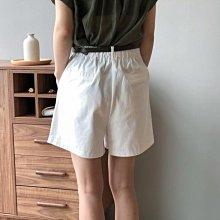 限時特價 / 休閒口袋寬短褲 高腰挺直寬鬆鬆緊闊腿褲+送腰帶 艾爾莎【TAE8432】
