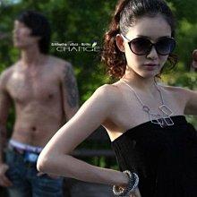 Change Fashion【羽采蝶】Korea~正韓~現代感設計時尚幾何造型方形墜飾氣質頸鍊