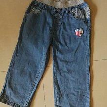 二手便宜賣 男童 大童七分牛仔褲 巴拉巴拉balabala 純棉舒適 160公分
