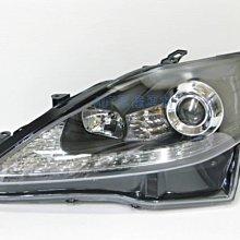 ~~ADT.車燈.車材~~LEXUS IS250 IS350 ISF LED日行燈 類R8燈眉 魚眼黑框大燈一組