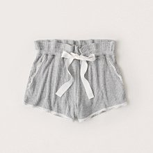 Maple麋鹿小舖 Abercrombie&Fitch * A&F 灰色蕾絲滾邊綁帶休閒褲/睡褲 * ( 現貨M號 )