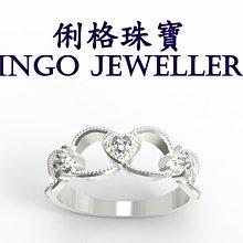 俐格鑽石珠寶批發 14K金 鑽石造型戒指 線戒 婚戒指鑽戒台女戒 款號RT3063 另售GIA鑽石裸鑽