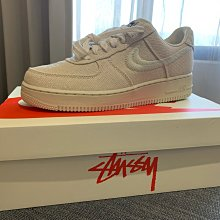 STUSSY  NIKE AIR FORCE 1 LOW FOSSIL 米色 US9.5號 全新正品