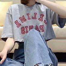 【妖妖代購】Celine 21新款早春字母印花短款T恤(兩款)
