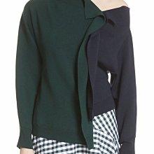 Monse 絕美真品撞色款不規則毛衣針織衫