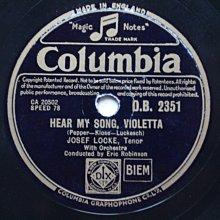 驚奇上天堂《Hear My Song Violetta》78轉 10吋 蟲膠唱片 電木唱片