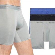 Calvin Klein CK卡文克萊藍灰黑色三件一組MICRO超纖維長版平口褲四角褲S M L XL號愛Coach包包