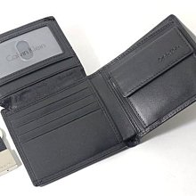 【免運費】【CK專櫃正品】美國Calvin Klein零錢袋短皮夾+鑰匙圈二件式禮盒組◎附美國專櫃購買證明