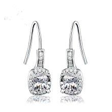 鑽石耳環 不過敏 結婚 情人節禮物 一克拉鑽石高仿真鑽石純銀戒指 首飾   FOREVER鑽寶