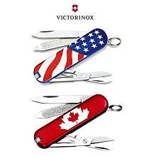 瑞士 維氏 Victorinox 58mm 7用 Classic SD 瑞士刀 美國國旗 加拿大國旗 國旗版