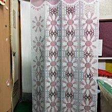 花朵粉紅單片門簾寬87*長168cm,可剪雙開