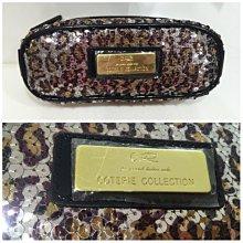 Coterie collection 紫色豹紋亮片 化妝包,筆袋 2色