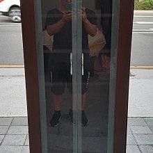 【樂居二手家具館】中古全新傢俱 家電買賣 A0417BH 玻璃酒櫃 櫥櫃 衣櫃 收納櫃 新竹苗栗桃園床組床架 化妝鏡