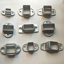 『鑫盛五金』護欄固定座鋅鋼圍欄陽臺欄桿樓梯扶手配件斜座直座連接件拉伸卡扣