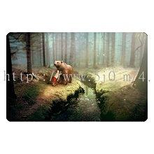 〈亮晶細沙 卡貼 貼紙〉棕熊 森林 仙境  貼紙 悠遊卡貼紙