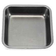 【不粘烤盤-鐵制-A3深四方盤】烘焙工具 蛋糕模具 烤箱用(烤盤21*21*3.5cm)-8001001