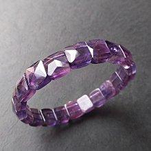 ☆采鑫天然寶石☆ **慧頡**特級紫水晶手鍊手排~ 方形切面款~微帶紫黃
