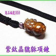 可享95折【紫鈦晶貔貅項鍊】編號1859  貔貅專賣 金鎂藝品店