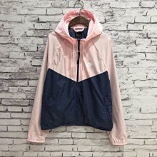 Maple麋鹿小舖 美國購買 * NIKE  粉+藍色連帽運動薄外套 * ( 現貨M號 )