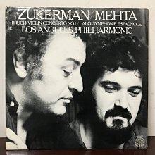 晨雨黑膠【古典】美版Columbia Masterworks/布魯赫:小提琴協奏曲、拉羅:西班牙交響曲/祖克曼/祖賓梅塔