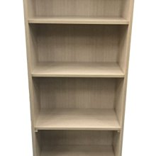 【樂居二手家具】台中全新中古2手傢俱家電最便宜 NH04AC*全新白橡2尺開放書櫃*書架 置物櫃/電視櫃/矮櫃/平面櫃