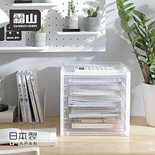 YOYO日韓代購~霜山日本進口A4桌面收納盒抽屜式辦公文具票據資料塑料多層整理柜