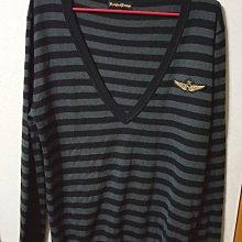 降價男裝專櫃Knightsbridge Knights bridge KB條紋毛衣L號,喀什米爾10%,材質很軟