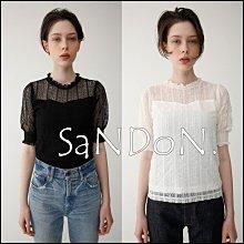 SaNDoN x『MOUSSY』官網SOLD OUT 精緻蕾絲五分袖襯衫上衣 SLY 韓妮 180517