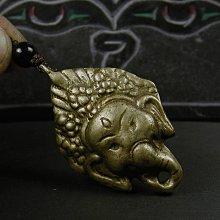藏珠物流中心 **西藏黃銅製-象鼻財神-吊飾**F210
