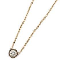 Cartier 卡地亞 鑽石項鏈LM 玫瑰金 公價NT$72,500 日本現貨 包郵包稅9.5成新【BRAND OFF】