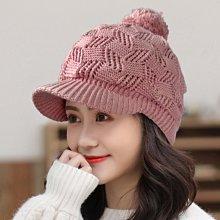 秋冬造型必備單品 Q781-5  YoShin 高磅數 球球針織蓋帽 粉色款