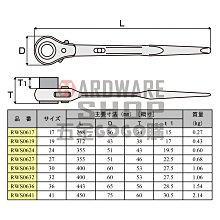 日本 MCC 單口 自動 梅花板手 RWS-0627 建築用 尖尾 棘輪 梅花扳手 27 mm 片口ラチェットレンチ