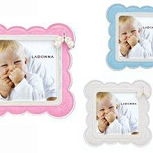 日本Ladonna Baby系列 夢幻雲朵嬰兒鞋2x3金屬水鑽水晶相框/ MB33-S2