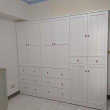 戀戀小木屋 白色原木 衣櫃 客製款衣櫃