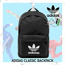 「i」【現貨】愛迪達 Adidas Originals Trefoil 黑 學院運動 水壺袋 書包 後背包GD4556