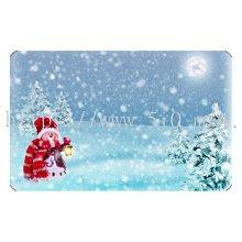 〈亮晶細沙 卡貼 貼紙〉聖誕節 雪人 下雪 christmas  貼紙 悠遊卡貼紙