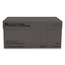 預購 香港 Protector 口罩 盒裝 30片 夜幕灰 黑色 深灰色 單片包裝 素色 氣質 比中衛舒適 賣場還有MaskOn