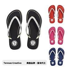零碼出清 美國品牌CTG天然橡膠水鑽夾腳拖 金蔥鞋帶 -出清最殺價格 -阿法.伊恩納斯 女鞋 大尺碼 涼拖鞋