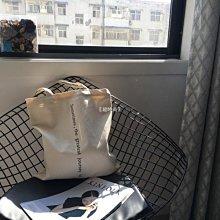 〖戀夢小屋〗 布本同色自制 UNFOLD潮新款純色簡約式字母帆布包INS款韓風單肩拉鏈包B3J32