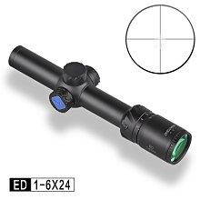 【WKT】DISCOVERY 發現者 ED 1-6X24IR 內充氮氣防水防霧 狙擊鏡/瞄準鏡-DI9213