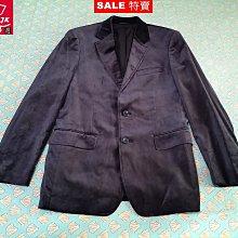 本周特價-專櫃品牌 G2000 西裝外套 潮流絲絨 都會型男 合身剪裁款-男款-46號【JK嚴選】太陽的後裔