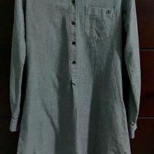 【出清】阿根廷設計師 PAULA CAHEN D'ANVERS 石灰色卡其襯衫釦式洋裝,有口袋前短後長歐碼1碼 alice anne Lora Brunello