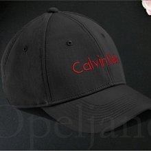 CK Calvin Klein Hat 卡文克萊黑色底LOGO棒球帽 防曬遮陽帽 高爾夫球帽可調整帽圍 愛Coach包包