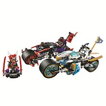 博樂積木 10802(樂拚 06074) 巨輪摩托車追擊戰 旋風忍者系列 333pcs