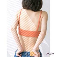 SAS 螺紋棉內衣 舒適內衣 付胸墊 性感集中 深V細肩帶 無鋼圈 薄款胸罩 百搭內搭 內衣 Bra-T【695】