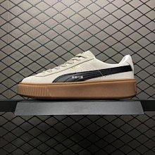Puma Suede platform 彪馬 灰白 棕底 麂皮 363559-01 厚底松糕鞋 女鞋